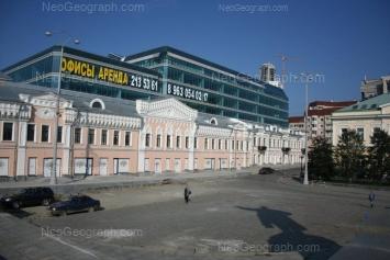 На фото видно: Ленина проспект, 25 (Европа, торговый центр); Ленина проспект, 27 (Банк ВТБ24, филиал №6602). Екатеринбург (Свердловская область)