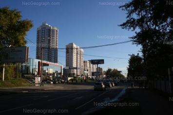 View to: Blukhera street, 39 (ТЦ Аида); Blukhera street, 41; Blukhera street, 45. Yekaterinburg (Sverdlovskaya oblast)