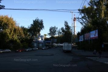 View to: Blukhera street, 1 (АЗС); Blukhera street, 3; Pervomaiskaya street, 67. Yekaterinburg (Sverdlovskaya oblast)