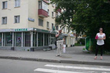 На фото видно: Челюскинцев улица, 110. Екатеринбург (Свердловская область)