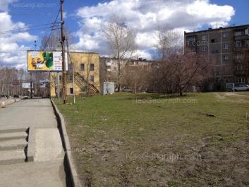 На фото видно: Данилы Зверева улица, 7; Данилы Зверева улица, 9; Данилы Зверева улица, 9А. Екатеринбург (Свердловская область)