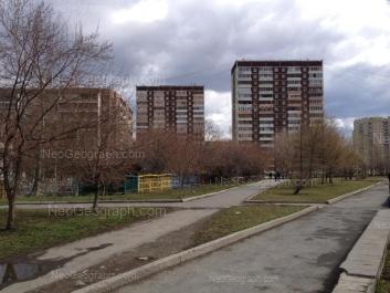 View to: Gotvalda street, 21/3; Cherepanova street, 16; Cherepanova street, 20; Cherepanova street, 22. Yekaterinburg (Sverdlovskaya oblast)