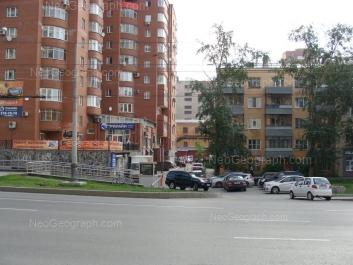 На фото видно: Белинского улица, 85; Белинского улица, 91 (Стиль, колледж управления и сервиса на Белинского). Екатеринбург (Свердловская область)