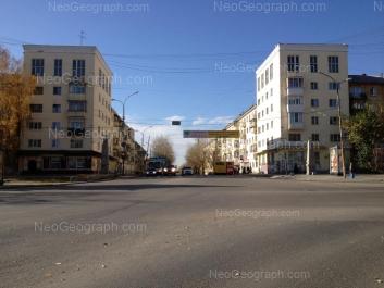 View to: Vostochnaya street, 170; Dekabristov street, 1; Dekabristov street, 2 (Отделение Центра регистрации граждан Октябрьского района Екатеринбурга); Dekabristov street, 3; Dekabristov street, 4. Yekaterinburg (Sverdlovskaya oblast)