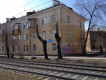 На фото видно: Бебеля улица, 121; Лесная улица, 38. Екатеринбург (Свердловская область)