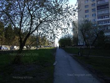 На фото видно: Радищева улица, 63. Екатеринбург (Свердловская область)