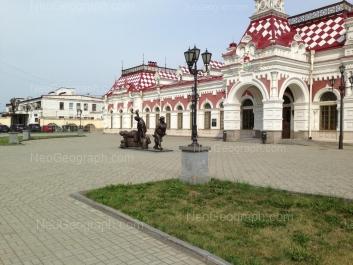 View to: Vokzalnaya street, 12; Vokzalnaya street, 14 (Музей истории, науки и техники Свердловской железной дороги). Yekaterinburg (Sverdlovskaya oblast)