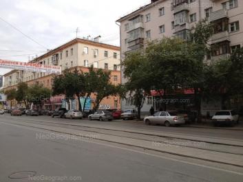 На фото видно: Луначарского улица, 133; Луначарского улица, 135. Екатеринбург (Свердловская область)