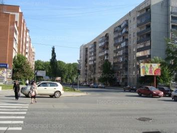 View to: Bolshakova street, 107; Bolshakova street, 109; Surikova street, 2; Surikova street, 4; Surikova street, 7. Yekaterinburg (Sverdlovskaya oblast)