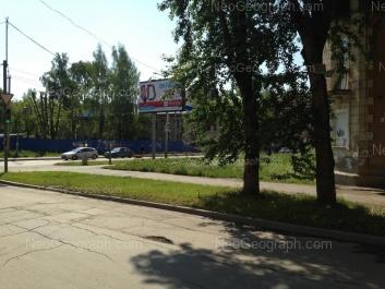 View to: Uchiteley street, 2а (детский сад Акадеша); Uchiteley street, 3. Yekaterinburg (Sverdlovskaya oblast)