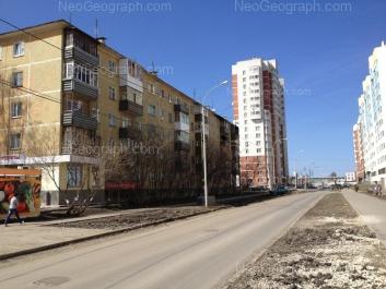 View to: Nadezhdinskaya street, 26; Pekhotintsev street, 2/1; Pekhotintsev street, 3/3. Yekaterinburg (Sverdlovskaya oblast)