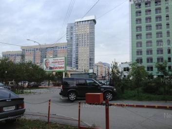 View to: Moskovskaya street, 52; Moskovskaya street, 54 (Рифей, бизнес-центр); Moskovskaya street, 77 (Москва, жилой квартал). Yekaterinburg (Sverdlovskaya oblast)