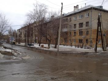 View to: Kishinevskaya street, 54; Kishinevskaya street, 56. Yekaterinburg (Sverdlovskaya oblast)