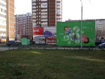 На фото видно: Самоцветный бульвар, 4; Академика Шварца улица, 2 к2; Академика Шварца улица, 4. Екатеринбург (Свердловская область)