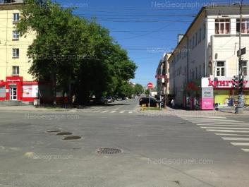 На фото видно: Малышева улица, 19; Сакко и Ванцетти улица, 57Б; Сакко и Ванцетти улица, 60. Екатеринбург (Свердловская область)