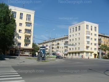 View to: Vostochnaya street, 170; Dekabristov street, 1; Dekabristov street, 2 (Отделение Центра регистрации граждан Октябрьского района Екатеринбурга); Dekabristov street, 4. Yekaterinburg (Sverdlovskaya oblast)