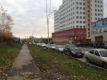 View to: Krestinskogo street, 50 (Управление Федеральной службы государственной регистрации, кадастра и картографии); Krestinskogo street, 52. Yekaterinburg (Sverdlovskaya oblast)