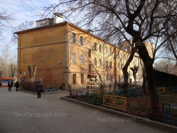 View to: Nekrasova street, 8. Yekaterinburg (Sverdlovskaya oblast)