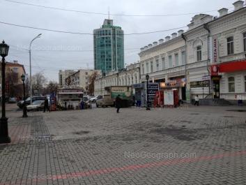 View to: Popova street, 2; Popova street, 4; Popova street, 7; Popova street, 10; Khokhriyakova street, 11. Yekaterinburg (Sverdlovskaya oblast)