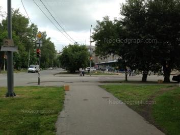 View to: Kommunisticheskaya street, 10; Novatorov street, 13. Yekaterinburg (Sverdlovskaya oblast)