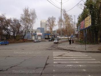 View to: Blukhera street, 1 (АЗС). Yekaterinburg (Sverdlovskaya oblast)