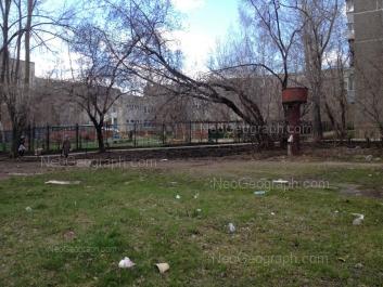 View to: Blukhera street, 49А (Детский сад №68); Blukhera street, 55А; Sovetskaya street, 54. Yekaterinburg (Sverdlovskaya oblast)