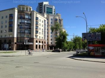 View to: Sakko i Vantsetti street, 47; Khokhriyakova street, 10 (Палладиум, бизнес-центр). Yekaterinburg (Sverdlovskaya oblast)