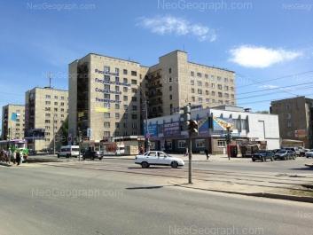 View to: XXII partsiezda street, 24; Donbasskaya street, 4; Donbasskaya street, 6; Donbasskaya street, 8. Yekaterinburg (Sverdlovskaya oblast)