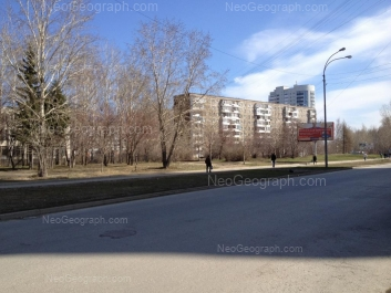 View to: Avtomagistralnaya street, 5; Pekhotintsev street, 17; Pekhotintsev street, 21а. Yekaterinburg (Sverdlovskaya oblast)