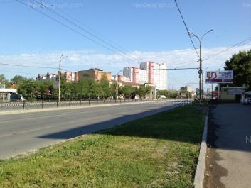 View to: Kosmonavtov avenue, 23 (Уральский Центр Народного Искуства); Kuznetsova street, 21. Yekaterinburg (Sverdlovskaya oblast)