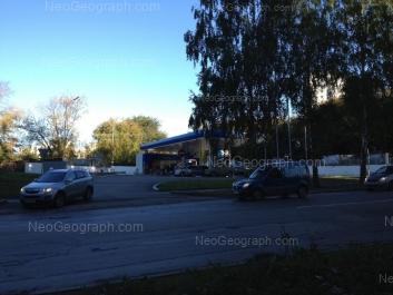 View to: Blukhera street, 1 (АЗС); Blukhera street, 3. Yekaterinburg (Sverdlovskaya oblast)
