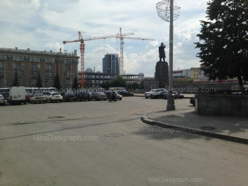 На фото видно: Ленина проспект, 24А (Администрация г. Екатеринбург). Екатеринбург (Свердловская область)