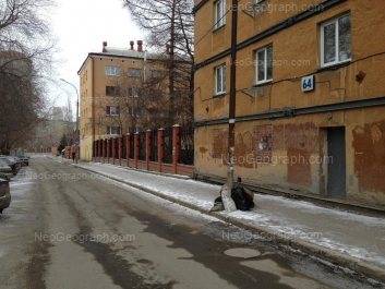На фото видно: Колмогорова улица, 64; Колмогорова улица, 68. Екатеринбург (Свердловская область)