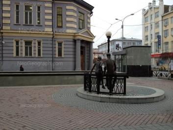 На фото видно: Вайнера улица, 24; Малышева улица, 27; Малышева улица, 29. Екатеринбург (Свердловская область)