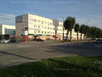 На фото видно: Космонавтов проспект, 15. Екатеринбург (Свердловская область)