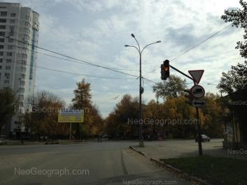 View to: Ordzhonikidze avenue, 12; Kirovgradskaya street, 42. Yekaterinburg (Sverdlovskaya oblast)