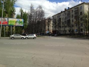 View to: Blukhera street, 2; Pervomaiskaya street, 66; Pervomaiskaya street, 67; Pervomaiskaya street, 68. Yekaterinburg (Sverdlovskaya oblast)