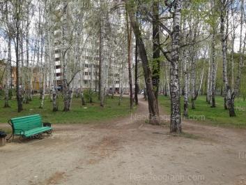 На фото видно: Шадринский переулок, 17; Шадринский переулок, 18. Екатеринбург (Свердловская область)