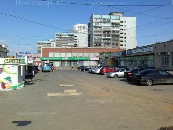 На фото видно: Кузнецова улица, 2; Кузнецова улица, 4; Кузнецова улица, 6; Кузнецова улица, 8. Екатеринбург (Свердловская область)