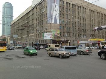 View to: Lunacharskogo street, 136; Malisheva street, 51 (Высоцкий, бизнес-центр); Malisheva street, 63. Yekaterinburg (Sverdlovskaya oblast)