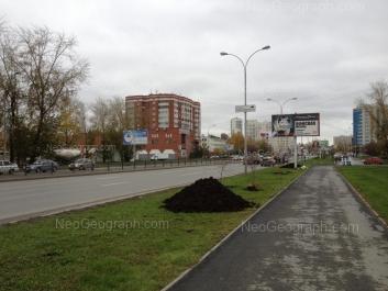На фото видно: Машинная улица, 29Б; Машинная улица, 29А; Машинная улица, 33; Машинная улица, 42а. Екатеринбург (Свердловская область)