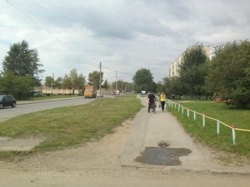 View to: Okruzhnaya street, 8. Yekaterinburg (Sverdlovskaya oblast)