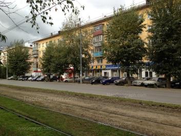 View to: Ferganskaya street, 6; Ferganskaya street, 10. Yekaterinburg (Sverdlovskaya oblast)