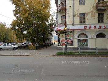 View to: Belinskogo street, 186; Belinskogo street, 188; Tsiolkovskogo street, 73. Yekaterinburg (Sverdlovskaya oblast)