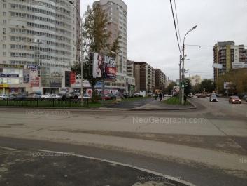 На фото видно: Белинского улица, 218 к1; Белинского улица, 222. Екатеринбург (Свердловская область)