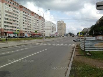 View to: Bakinskikh Komissarov street, 100; Bakinskikh Komissarov street, 107; Bakinskikh Komissarov street, 109; Bakinskikh Komissarov street, 113. Yekaterinburg (Sverdlovskaya oblast)