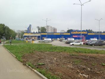 View to: Shefskaya street, 107 (Castorama, гипермаркет ). Yekaterinburg (Sverdlovskaya oblast)