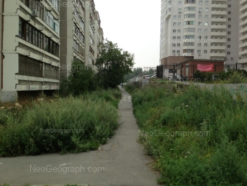 View to: Krasnikh Komandirov street, 29; Shefskaya street, 59. Yekaterinburg (Sverdlovskaya oblast)