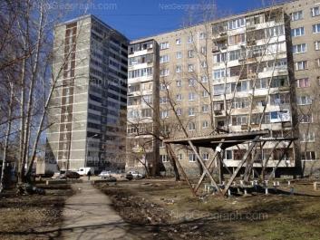 View to: Bebeliya street, 156; Bebeliya street, 158. Yekaterinburg (Sverdlovskaya oblast)