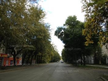 View to: Krasnoflotsev street, 5; Krasnoflotsev street, 10. Yekaterinburg (Sverdlovskaya oblast)